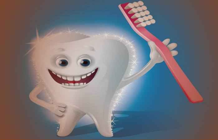 Зуб со щщёткой